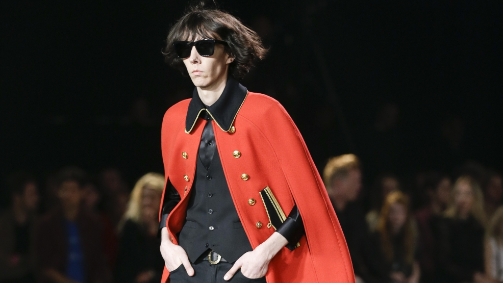 Saint Laurent Palladium show features glam androgynous style